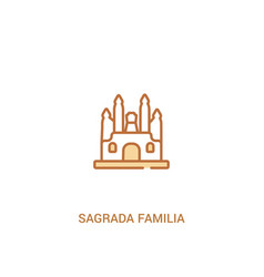 Sagrada familia concept 2 colored icon simple vector
