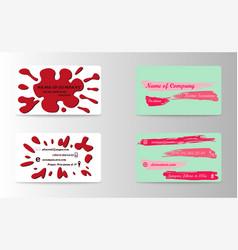 Set of creative business card print templates vector