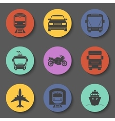Simple transport icons set vector