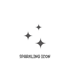 sparkling icon simple flat style vector image
