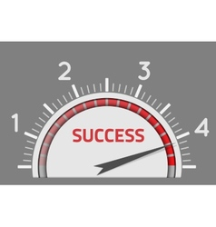 Success speedometer vector