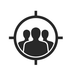target audience flat icon images vector image