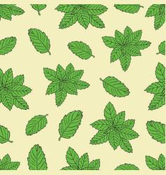 Tea pattern-04 vector
