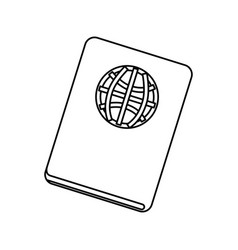 Travel passport document vector
