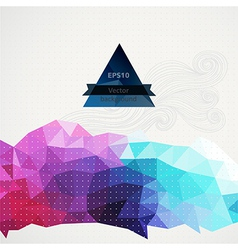 Triangle pattern background triangles background vector