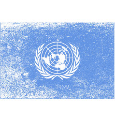 United nations flag grunge vector