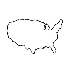 united states map silhouette vector image