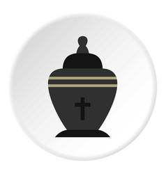 Urn icon circle vector
