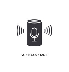 voice assistant smart icon digital voice vector image