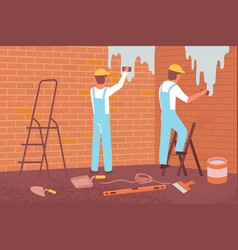 Wall alignment flat composition vector