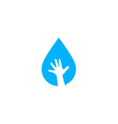 water drop child hand logo icon vector image