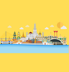 welcome to thailand and grand palace vector image
