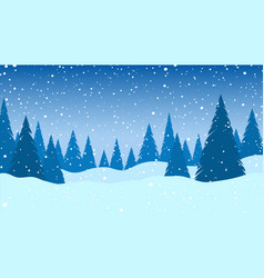 winter landscape falling snow vector image