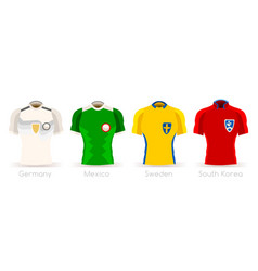 World cup group f team uniform vector