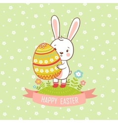 Card easter bunny vector image vector image