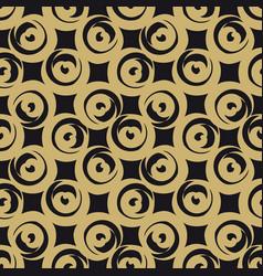 golden circle shaped hearts vector image