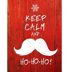 keep calm and hohoho vector image