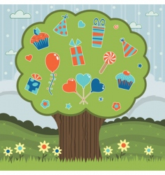 party tree vector image vector image