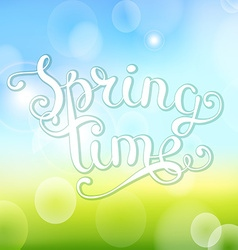 Spring time on bokeh background vector image vector image