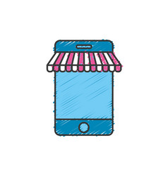 technology smartphone to business information vector image
