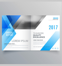 booklet page cover magazine design with blue vector image