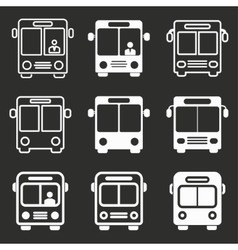 Bus icon set vector image vector image