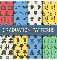 Education Graduation Pattern Collection vector image vector image