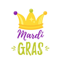 mardi gras greeting card vector image
