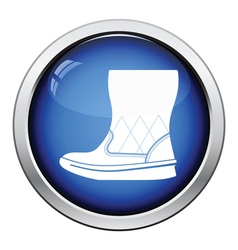 Woman fluffy ugg boot icon vector