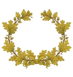 Gold Oak Wreaths vector image vector image