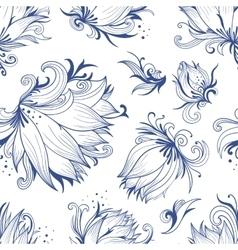 Lotus Sketch Pattern vector image vector image