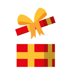open giftbox present isolated icon vector image vector image