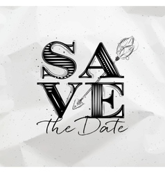 Poster wedding save date vector image
