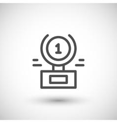 Award statue line icon vector image