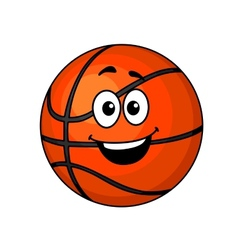 Cartoon happy basketball ball vector image vector image