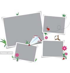 Childhood summer photo frames vector image