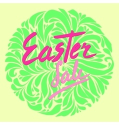 easter sale flyer vector image vector image