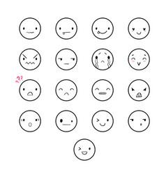 emoticons doodle round vector image