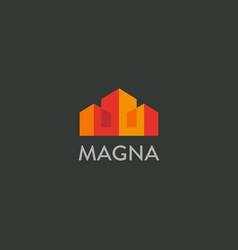 house city logotype premium real estate vector image