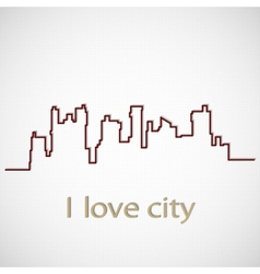 Silhouette city vector image vector image