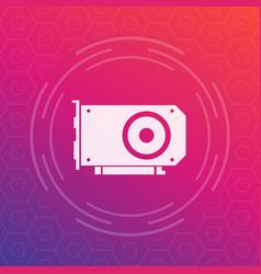 Video card icon vector