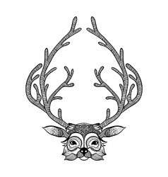 Zentangle stylized deer Hand Drawn Sketch for vector image vector image