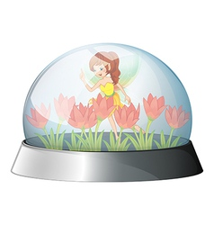 A dome with a fairy in the garden inside vector image