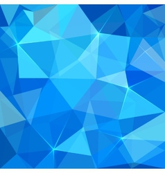 Abstract blue triangles background vector