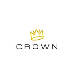 abstract crown logo design template vector image