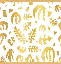 Abstract plants summer collage seamless vector