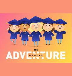 Adventure begins banner design vector