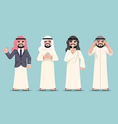 arab businessman finance working decision making vector image