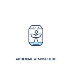 Artificial atmosphere concept 2 colored icon vector