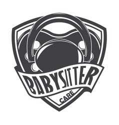 babysitter monochrome style vector image
